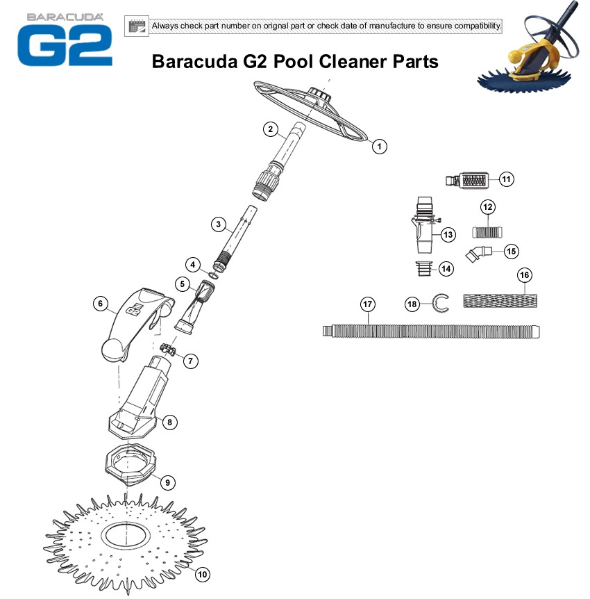Pool cleaners products baracuda g2 parts ccuart Images