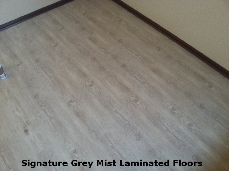 Signature Grey Mist Laminated Floors Is A Great Domestic Floor Notice The Amount Of Detail In Skirting S And Other Finishing Strips